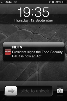 """President signs the Food Security Bill"""